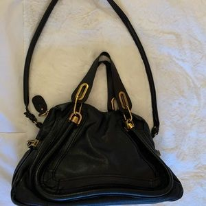 Pre Owned Chloe Paraty Medium black